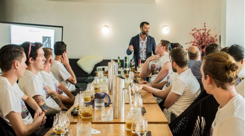 Planar's Whisky Tasting Classes a fun team building activity